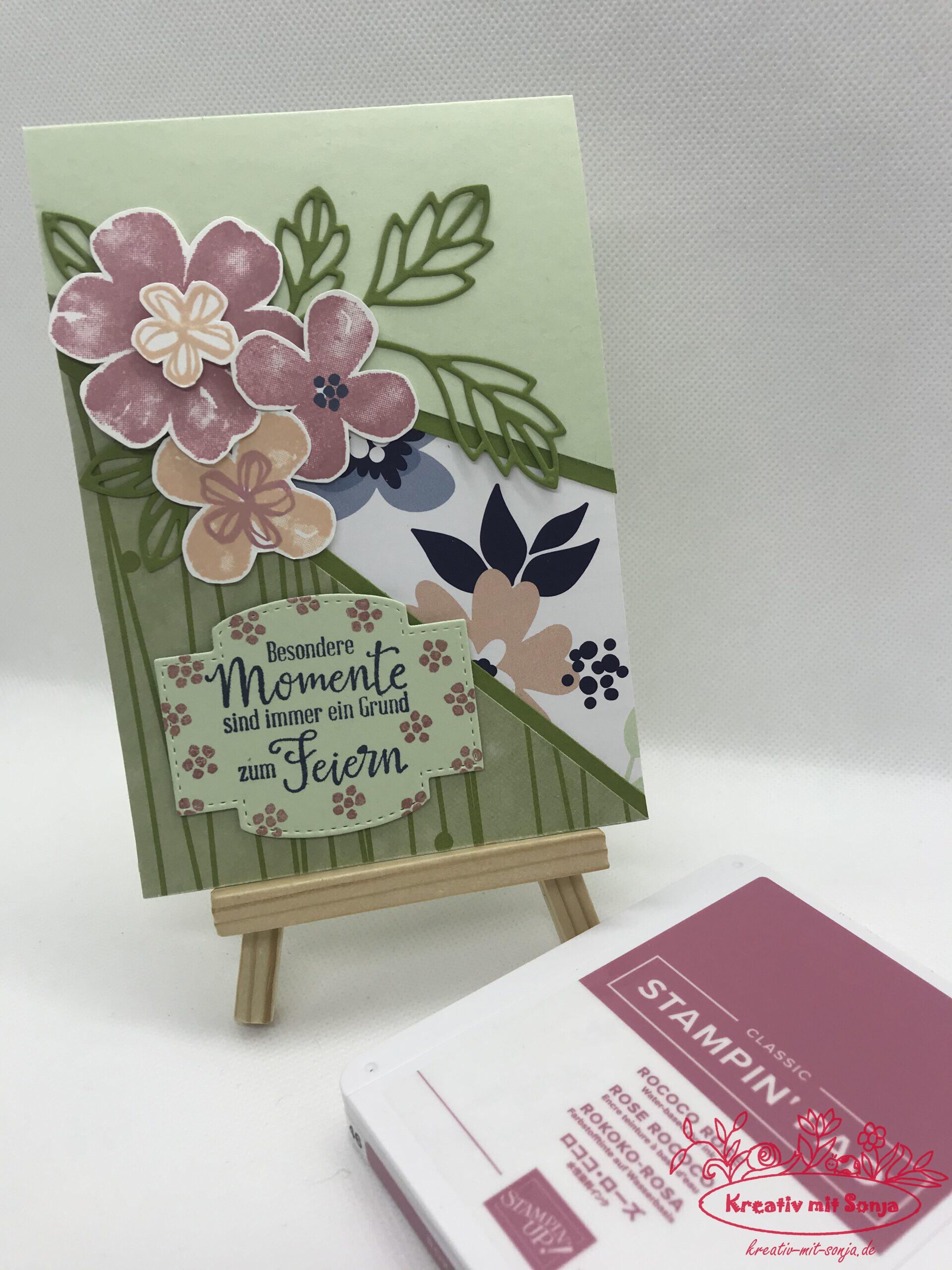 Panel-Card Papierblüten