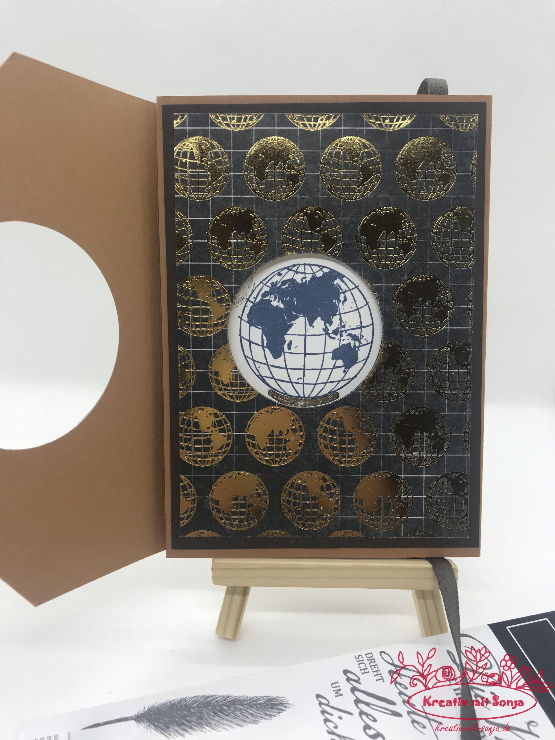 Wunderbare Welt peek-a-boo Card