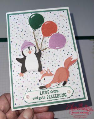 Genesungskarte Pinguin-Party(2) - 1