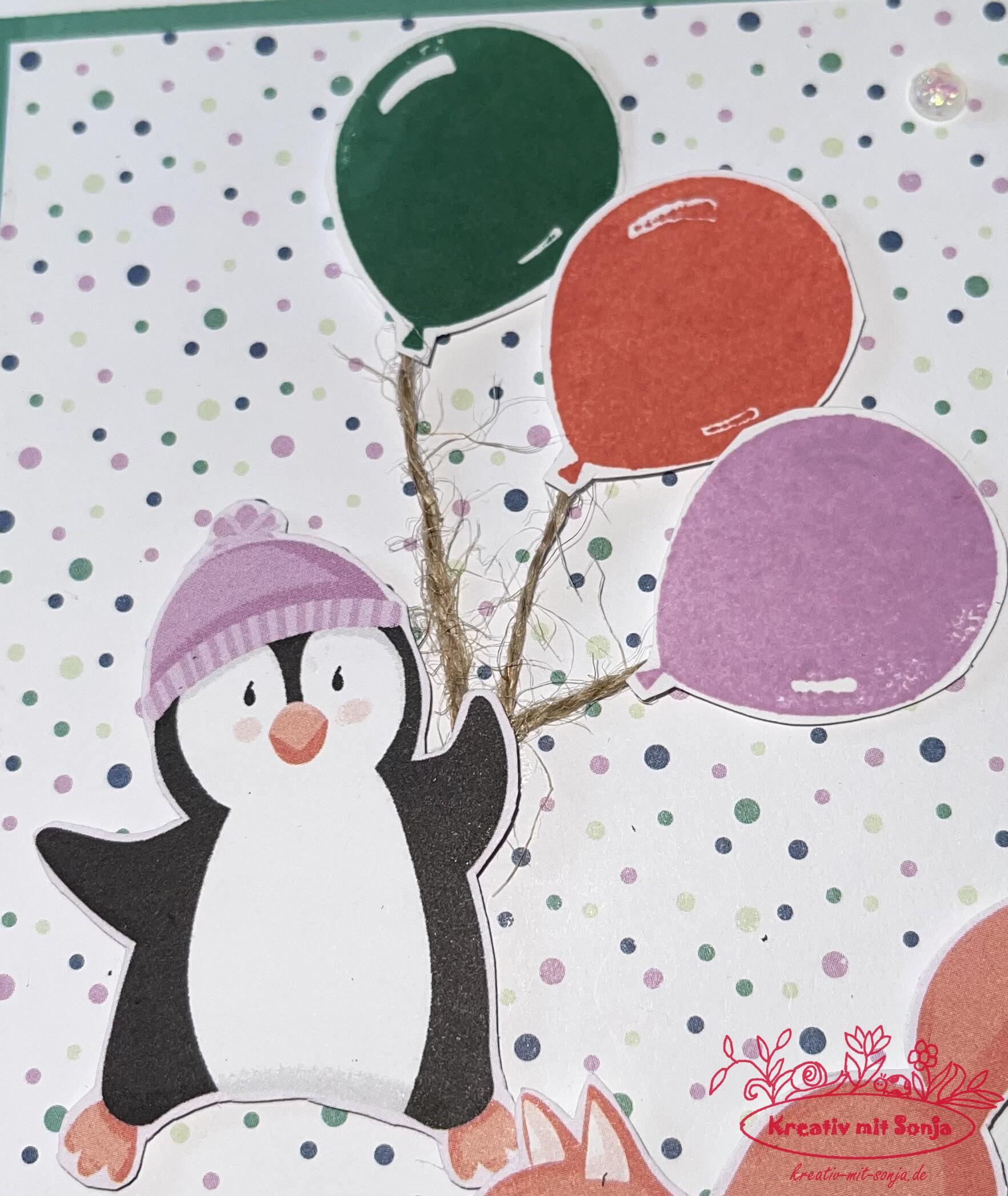 Genesungskarte Pinguin-Party(2) - 2