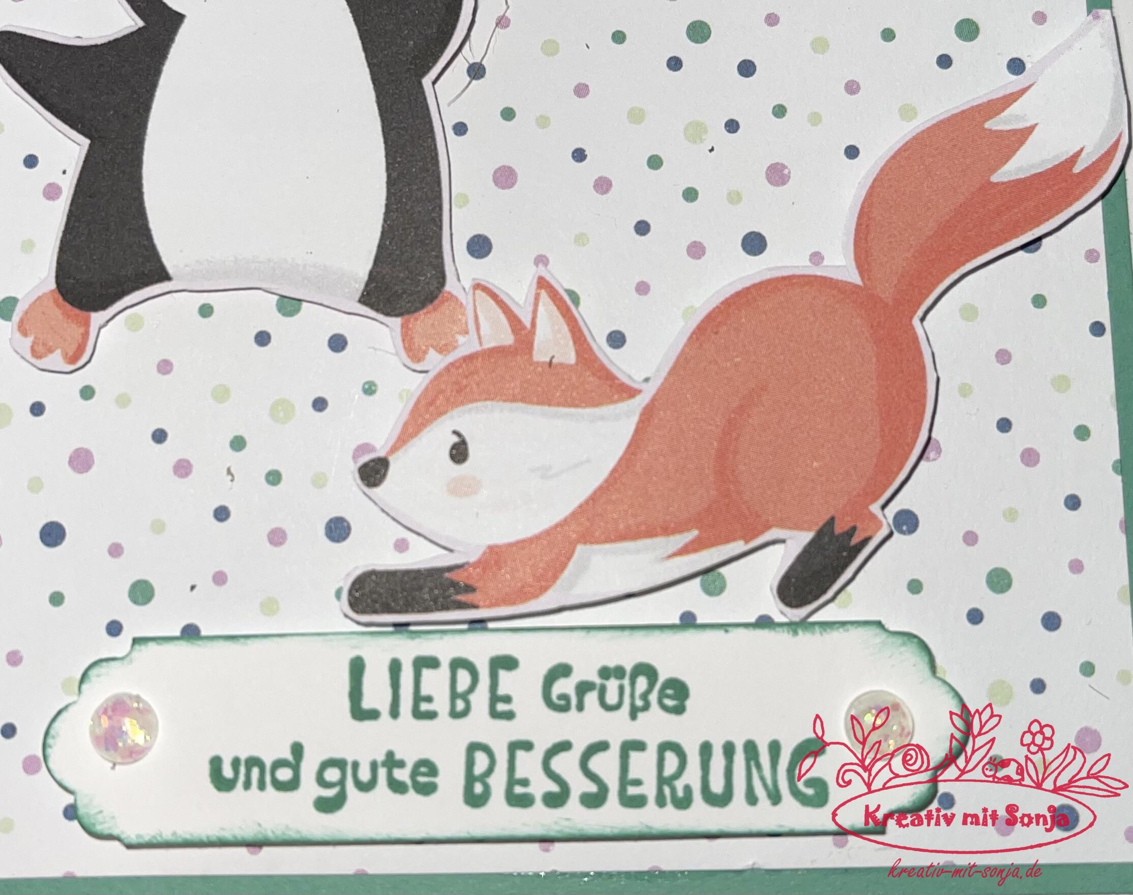 Genesungskarte Pinguin-Party(2) - 3
